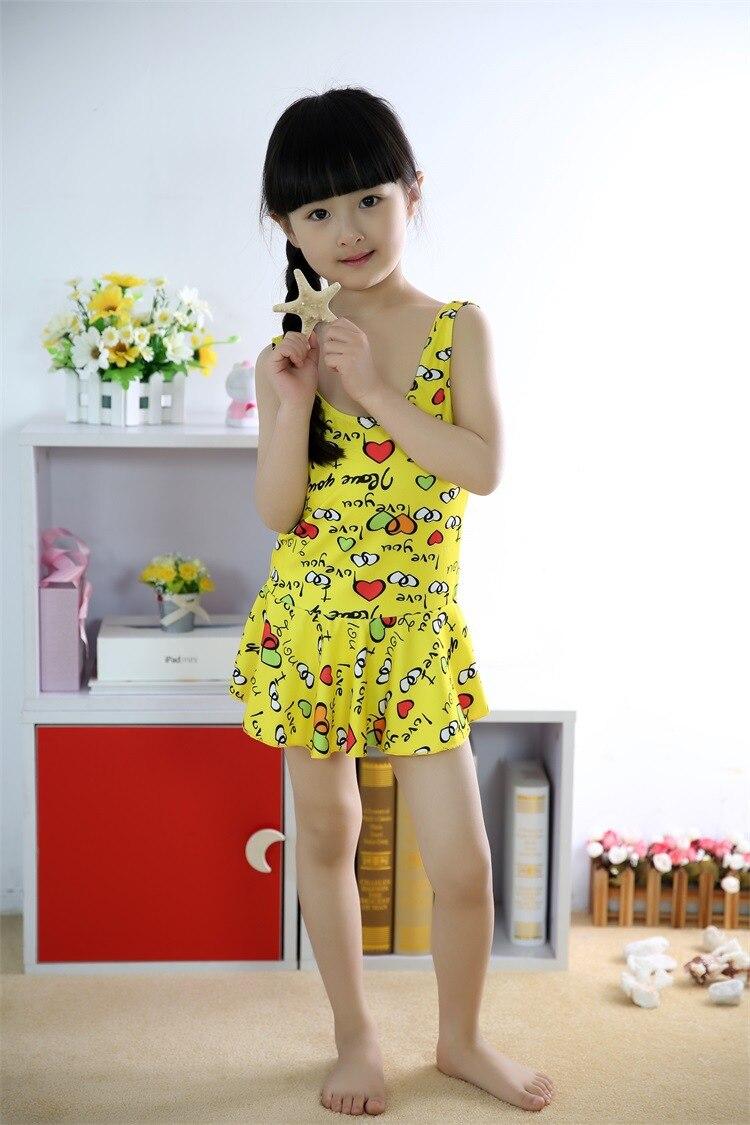 1101-1 Hot Sales One-Piece Bathing Suit Cartoon Cute CHILDREN'S Swimsuit Swimwear 10-14-Year-Old