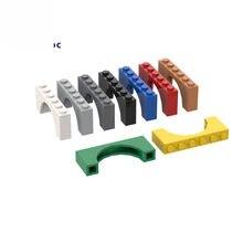 Bloques de construcción compatibles con MOC, 10 Uds., 15254, arco de ladrillo, 1x6x2, piezas de bloques de construcción, bricolaje, educativo, creativo, Juguetes