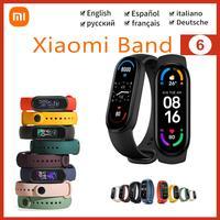 Globale/NFC Version Xiaomi Mi Band 6 Smart Armband 9 Farbe AMOLED Bildschirm Miband 6 Smartband Fitness Traker Sport wasserdicht Band
