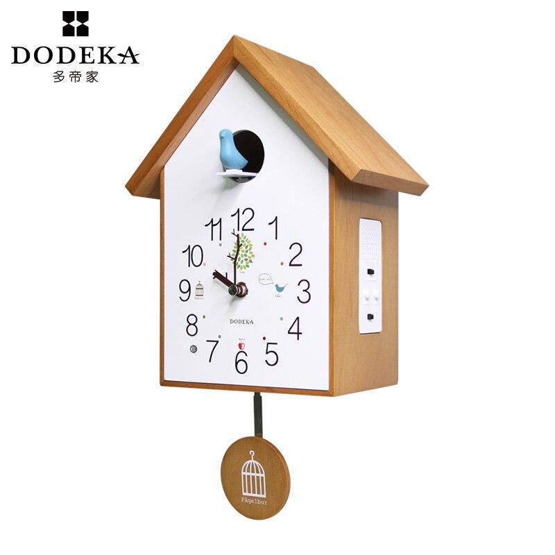 Деревянные европейские настенные часы с кукольным маячком, винтажные настенные часы для дома, простой гостиной, дома, модные часы, декорати