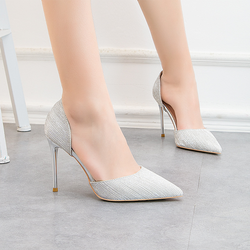 Autumn Fashion Sexy Women High Heels Pointed Toe Students Wild Thin Heels Single Shoes Elegant Dress Party Pumps Womens Shoes