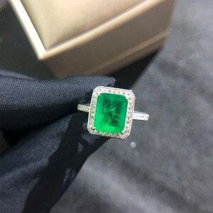 Image 4 - וונג גשם בציר 925 סטרלינג כסף אמרלד חן יהלומי חתונת אירוסין טבעת תכשיטים סיטונאי Drop חינם