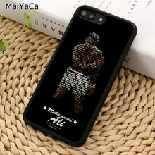 MaiYaCa King of Boxing Muhammad Ali Phone Case For iPhone X XR XS 11 Pro MAX 5 6 6S 7 8 Plus Samsung Galaxy S5 S6 S7 S8 S9 S10(China)