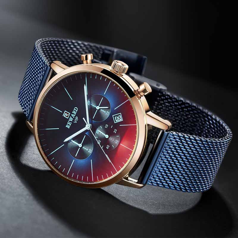 REWARD Brand Watches Mens Top Luxury Waterproof Quartz Wrist Watch Men Sport Chronograph Male Wristwatch Relogio Masculino