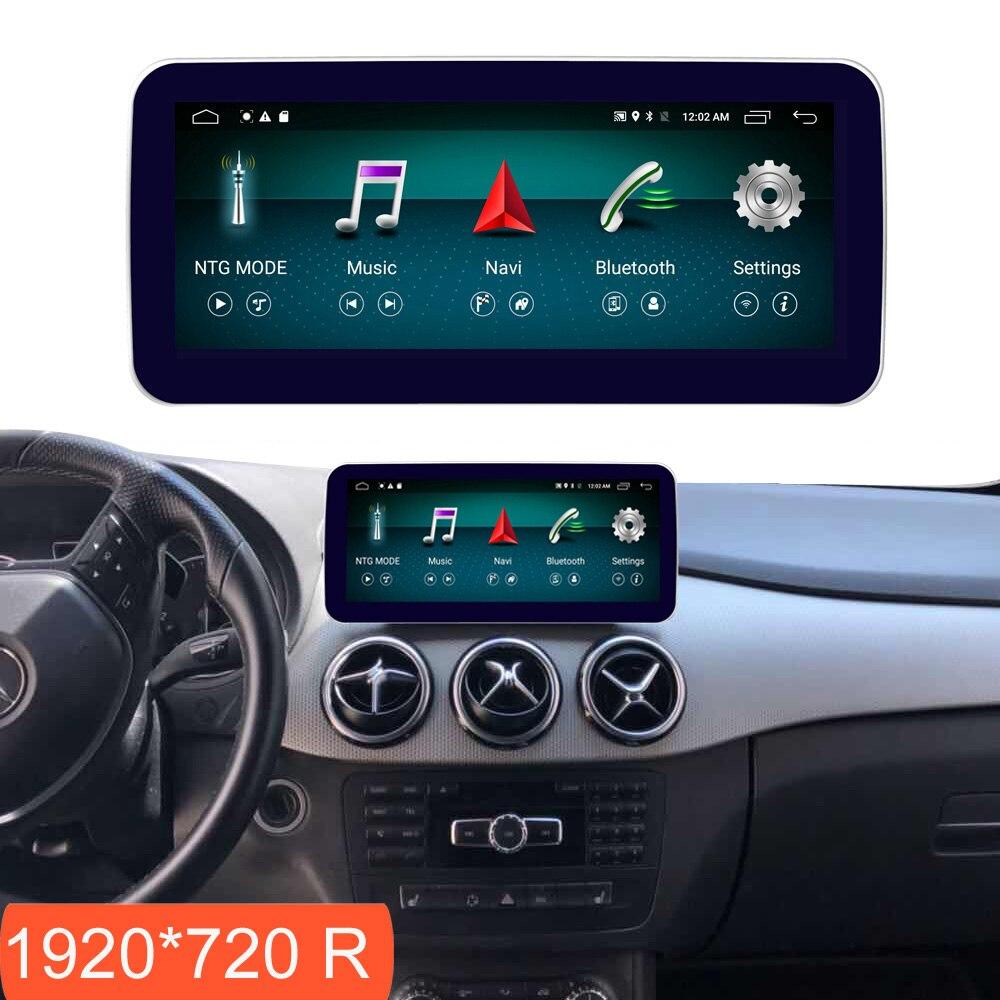 10.25 polegada 4 + 64G Exibição Android para Mercedes Benz Classe B W246 Tela Rádio Do Carro de Navegação GPS Bluetooth cabeça PARA CIMA Tela Sensível Ao Toque