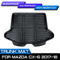 Mud Pad Kick Guard Protector For Mazda CX-5 CX5 2017 2018 Replace Cargo Liner Boot Mat Rear Trunk Liner Cargo Floor Tray Carpet