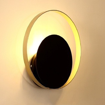 Nordic Simple Bedside LED Wall Lamp Art Brass Foyer Background Bedroom Restaurant Aisle Wall Sconce Lighting