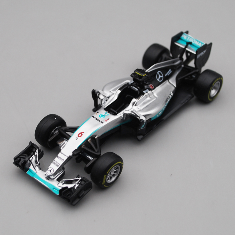 Bburago 1/43 1:43 W07 2016 Mercedes Benz No6 Nico Rosberg F1 Formula 1 Racing Car Diecast Display Model Toy For Kids Boys Girls