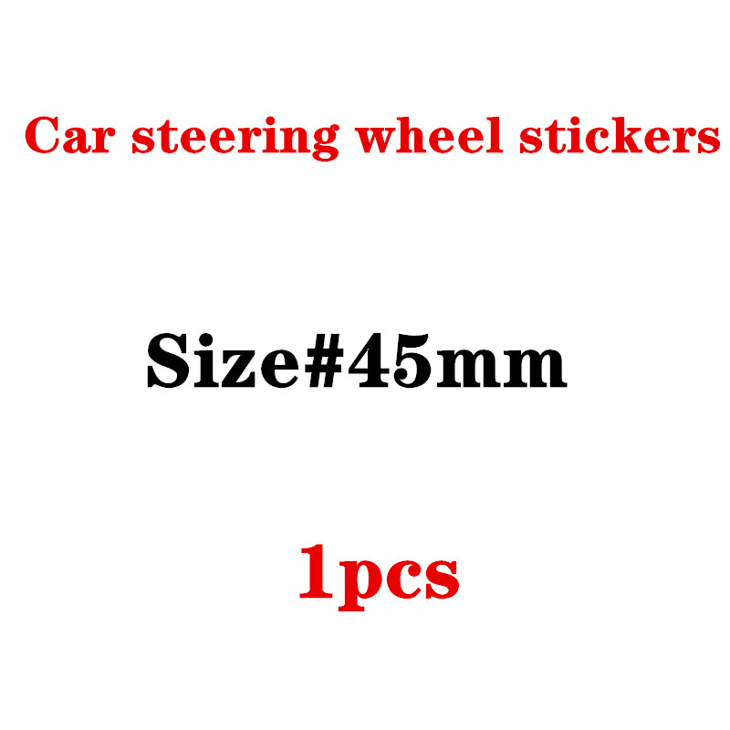 45mm Car Steering Wheel Badge Emblem Sticker For F10 F20 F25 F30 F31 E36 E39 E87 E60 E46 E90 X1 X3 X5 E53 Car Styling