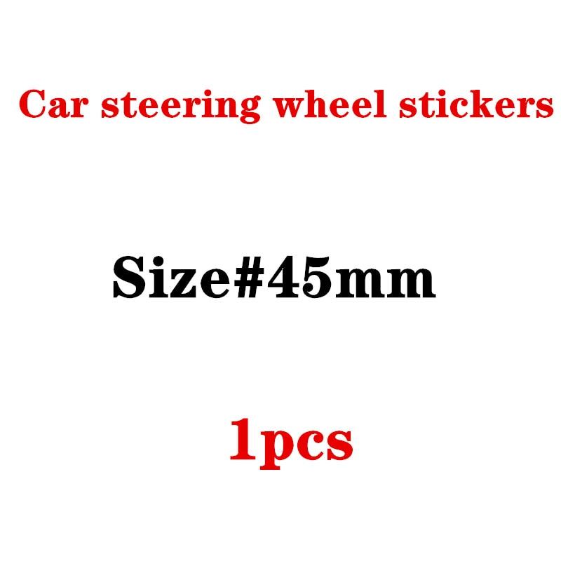 45mm Car Steering Wheel Badge Emblem Sticker For F10 F20 F25 F30 F31 E36 E39 E87 E60 E46 E90 X1 X3 X5 E53 Car Styling