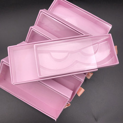 Mikiwi оптовая продажа горячая детская розовая квадратная ПВХ чехол для ящика пустая коробка норка накладные ресницы упаковка логотип блестя...