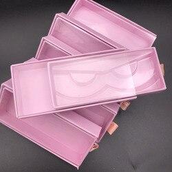 Mikiwi Groothandel Hot Baby roze Vierkante Pvc Lade Case Lege doos Nertsen Valse Wimper Verpakking Logo Glitter Papier magnetische Doos