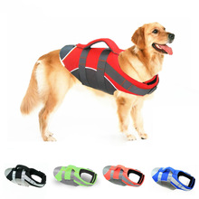 Dog Life Vest Jacket Reflective Pet Harness Summer Outdoor Swim for Small Medium Large Dogs Swimsuit with Rescue Handle