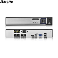 AZISHN H.265 48V POE NVR 4CH 5MP / 8CH 5MP Security Video Surveillance Recorder Motion Detect ONVIF P2P CCTV NVR For POE IP Cam