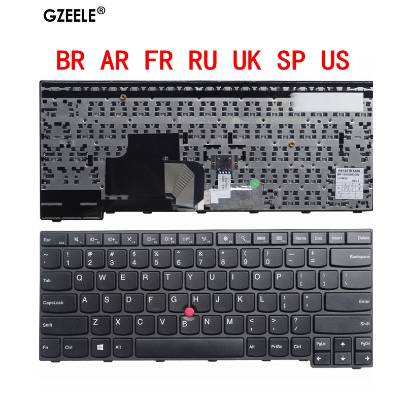 SP/BR/RU/FR/UK/US/AR New <font><b>Keyboard</b></font> for <font><b>LENOVO</b></font> E450 E455 E450C W450 <font><b>E460</b></font> E465 Replacement image