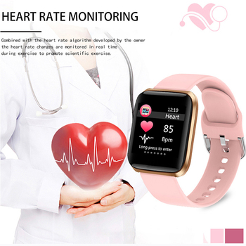 LIGE New Smart Watch Women Heart Rate Blood Pressure Monitoring Fitness Tracker Is Suitable For Android IOS Ladies Smart Watches 2