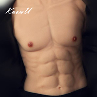 KnowU Artificial Realistic fake muscle Vest Bodysuit Realistic Chest Muscle for Man Actor Cosplay Upper Piece Pectoralis