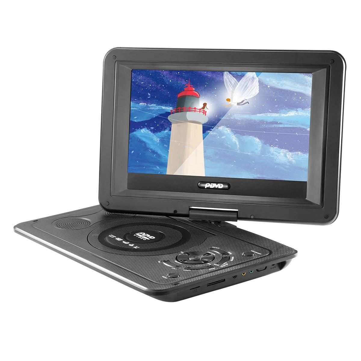 Портативный DVD-плеер Powstro, 13,9 дюйма, 110-240 В, HD TV, разрешение 800*480, ЖК-экран 169 для разъема ЕС, DVD-плееры 2018