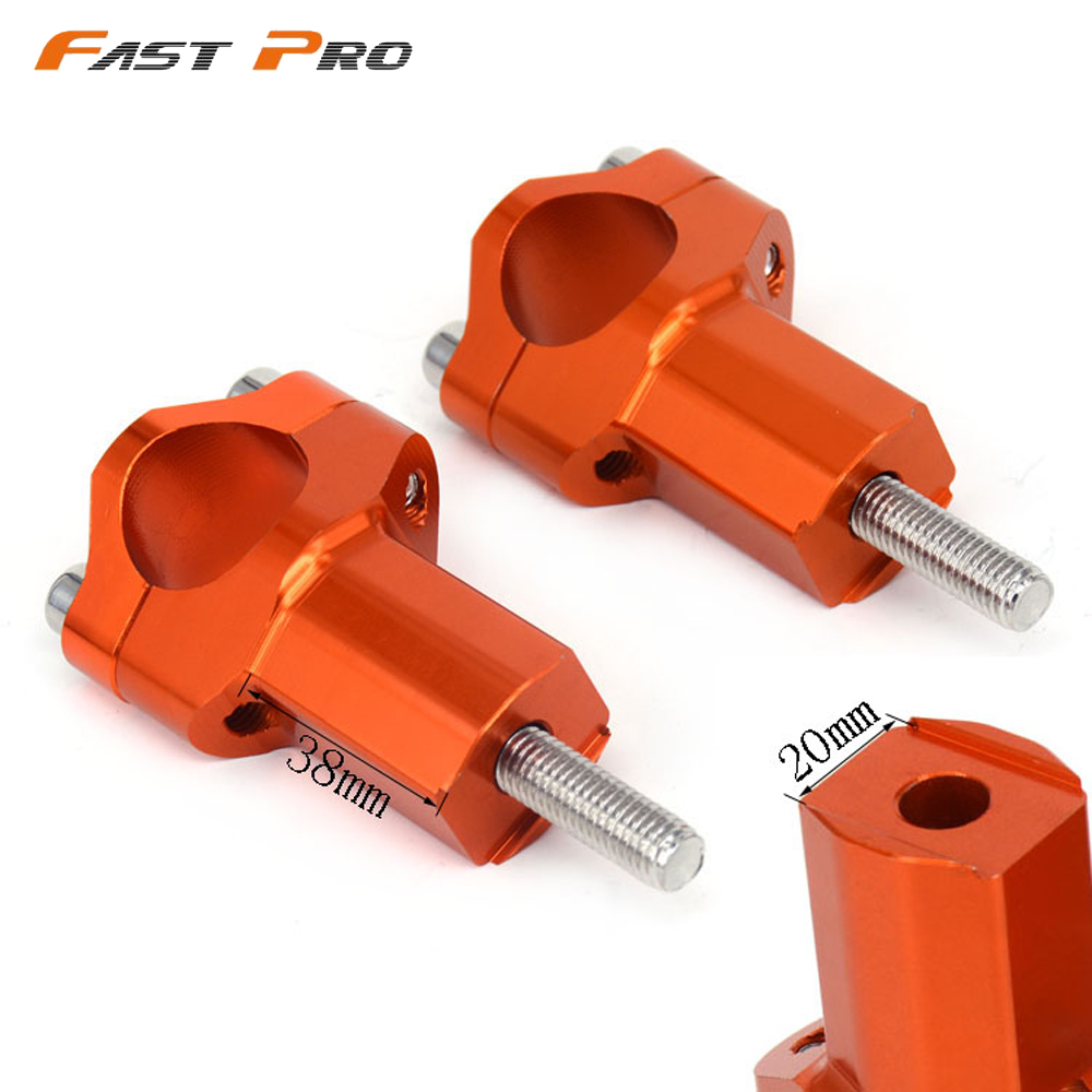 Billet HandleBar Risers Bar Mount Clamp For KTM 1 1 8inch 125-530 SX SXF EXC EXCF XCF XC 250 350 450 525 Dirt Bike MotorcycleEnduro