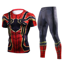 Compression-Shirt Workout-Tights Men Tracksuit Sport-Wear Fitness Gym Jogging Running