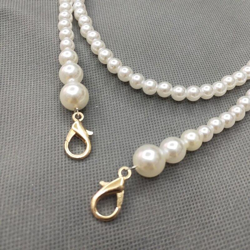 2020 Classic Imitation Pearl Bag Belt Chain Handle Shoulder Straps Women Handles Replacement For Handbags Bag Strap Accessories