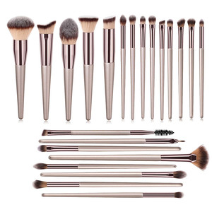 22 PCs Makeup Brushes Champagn