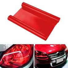 Luz do carro do automóvel vermelho farol taillight matiz vinil filme adesivo cor-em mudança folha de luz de nevoeiro adesivo decoração do carro decalque 60cm/120cm
