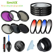 UV CPL ND FLD Close Up Star IR Colour Filter & Lens Hood / Cap / cleaning Pen for Sony HX400V HX300 HX350 H400 Digital Camera
