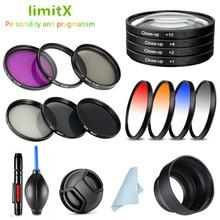UV CPL ND FLD gros plan étoile IR couleur filtre et capuchon dobjectif/capuchon/stylo de nettoyage pour Sony HX400V HX300 HX350 H400 appareil photo numérique