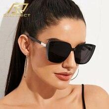 Simprect 2020 модные негабаритный очки солнцезащитные винтажные