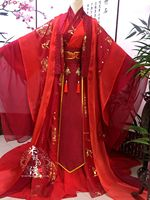 Anime Mo Dao Zu Shi Wei Wuxian Cosplay Costume Xie Lian Costumes Chinese Traditional Women Hanfu Red Wedding Dress Full Set