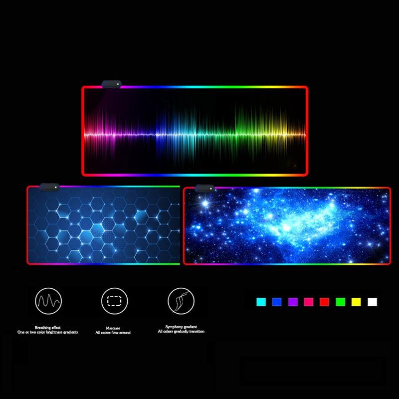 Permalink to RGB backlit gaming mouse pad oversized black keyboard pad gaming luminous mouse pad rgb gaming mouse pad