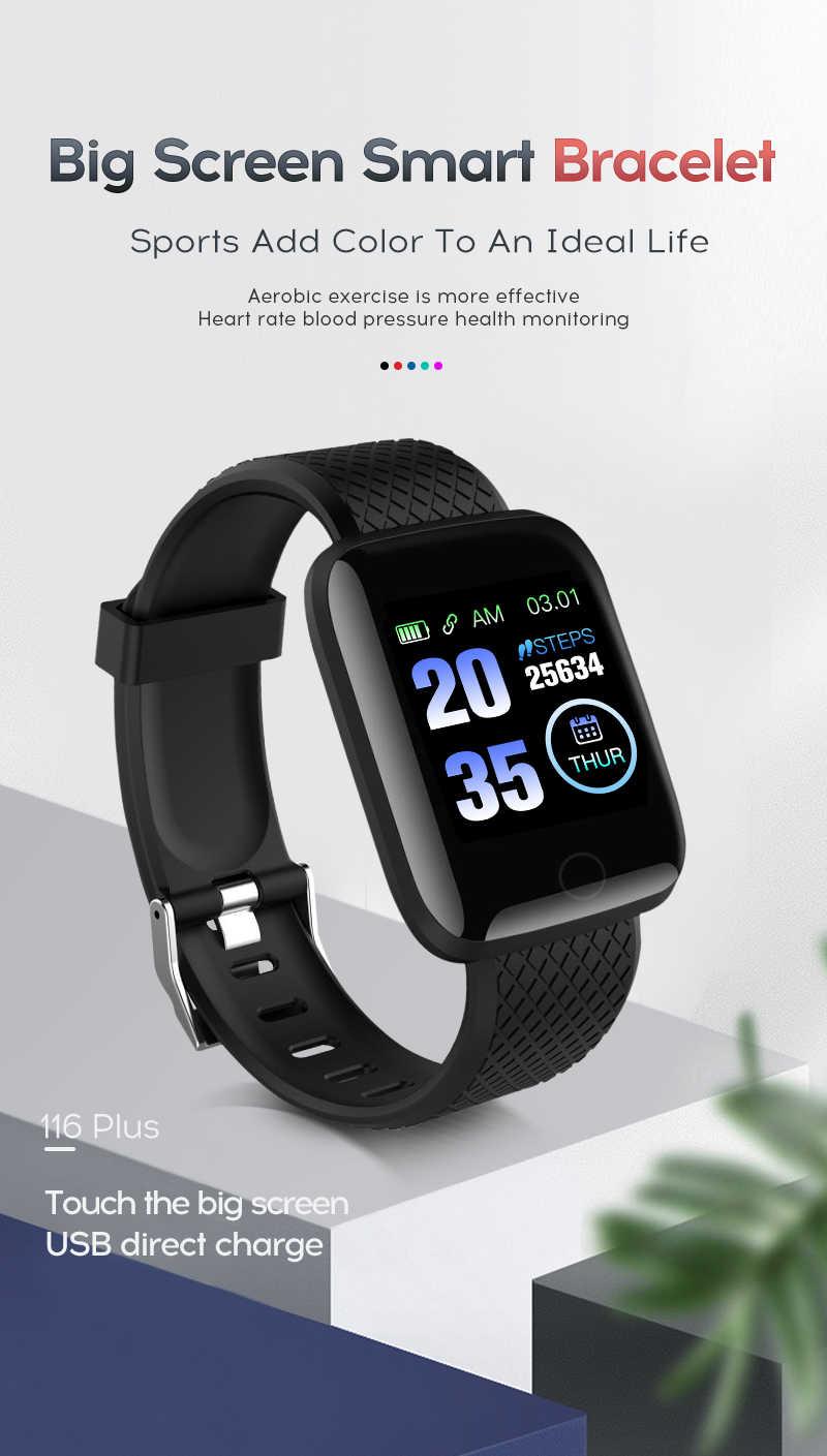 116 più Intelligente Vigilanza di Forma Fisica del braccialetto intelligente di sport della fascia wristband Pedometro braccialetto Del Cuore rate monitor smartwatch