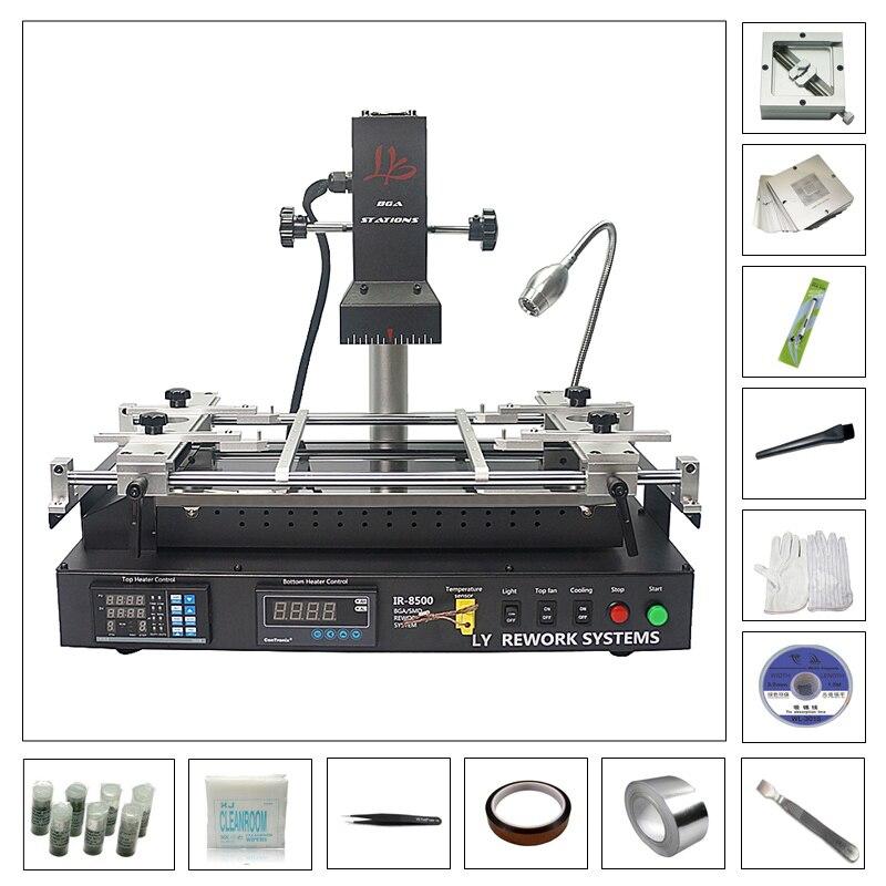 LY IR8500 Infrared IR Soldering Reballing BGA Rework Station For Laptop Reparing IR8500 Heating Size Bigger Than IR6500