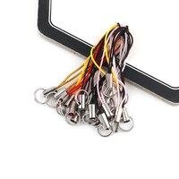 50 teile/los Farbe Polyester Doppel Ring Lanyard Schmuck Lanyard Handy DIY Schlüssel Ring DIY Keyfob DIY KeyChain Zubehör