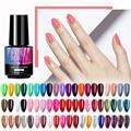 Гель-лак для ногтей Цвет Soak Off УФ-гель для ногтей гель лаки кошачего глаза блестящие щеллак для маникюра Лак для дизайна ногтей топ и база ...