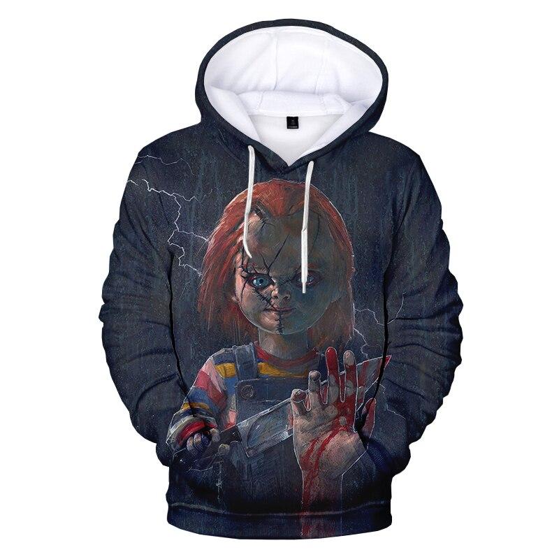 Hot Women//Men 3D Print childs play chucky Casual Hoodie Sweatshirt Pullover Tops