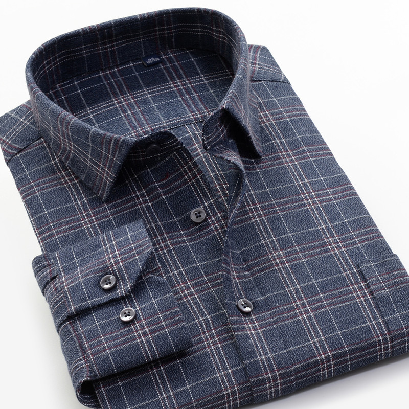 5XL 6XL 7XL 8XL 9XL 10XL Big Size Brand Clothing Men's Casual Long-sleeved Shirt 2019 New Fashion Elegant Large Size Plaid Shirt