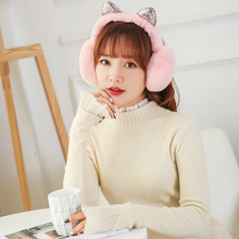 Earmuffs Headband Ear-Warmer Earlap Winter Women Sequin Girl Fur Fashion Glitter Hot