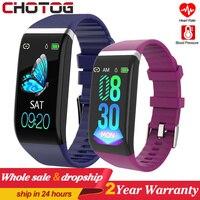 Sport Smart Band Armband Uhr Blutdruck Monitor Fitness Armband Uhr Dynamische Herz Rate Fitness Tracker Für Männer Frauen