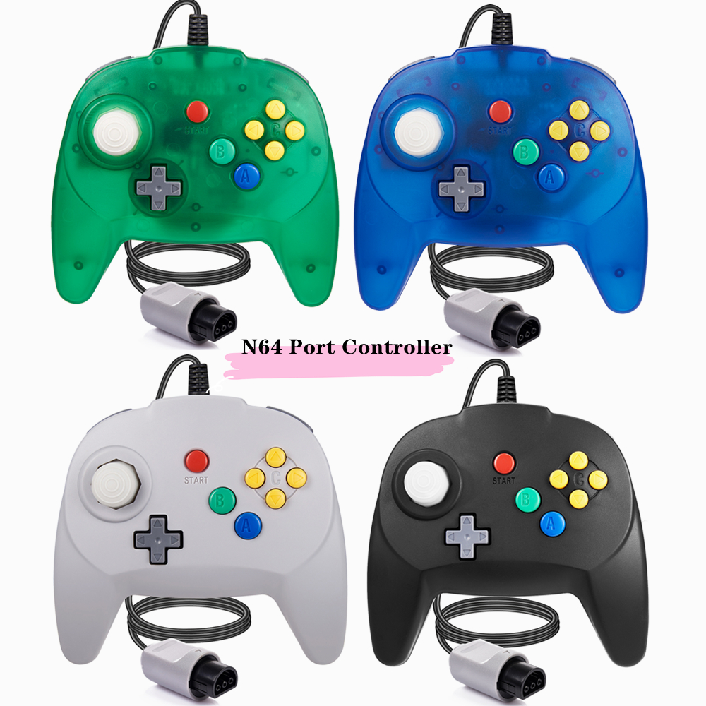 [Новая версия] 2 упаковки для контроллера N64, мини-джойстика для консоли N 64-Plug & Play (дизайн из Японии)
