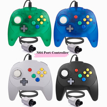 [Nova versão] 2 pacote para controlador n64, mini joystick almofada de jogo para n 64 console-plug & play (design do japão)