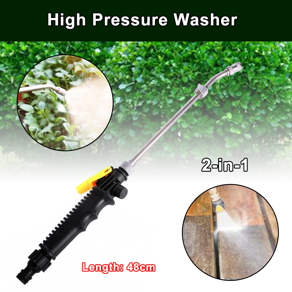 2-in-1 High Pressure Washer 2.0 48cm 30cm 38cm With Bottle