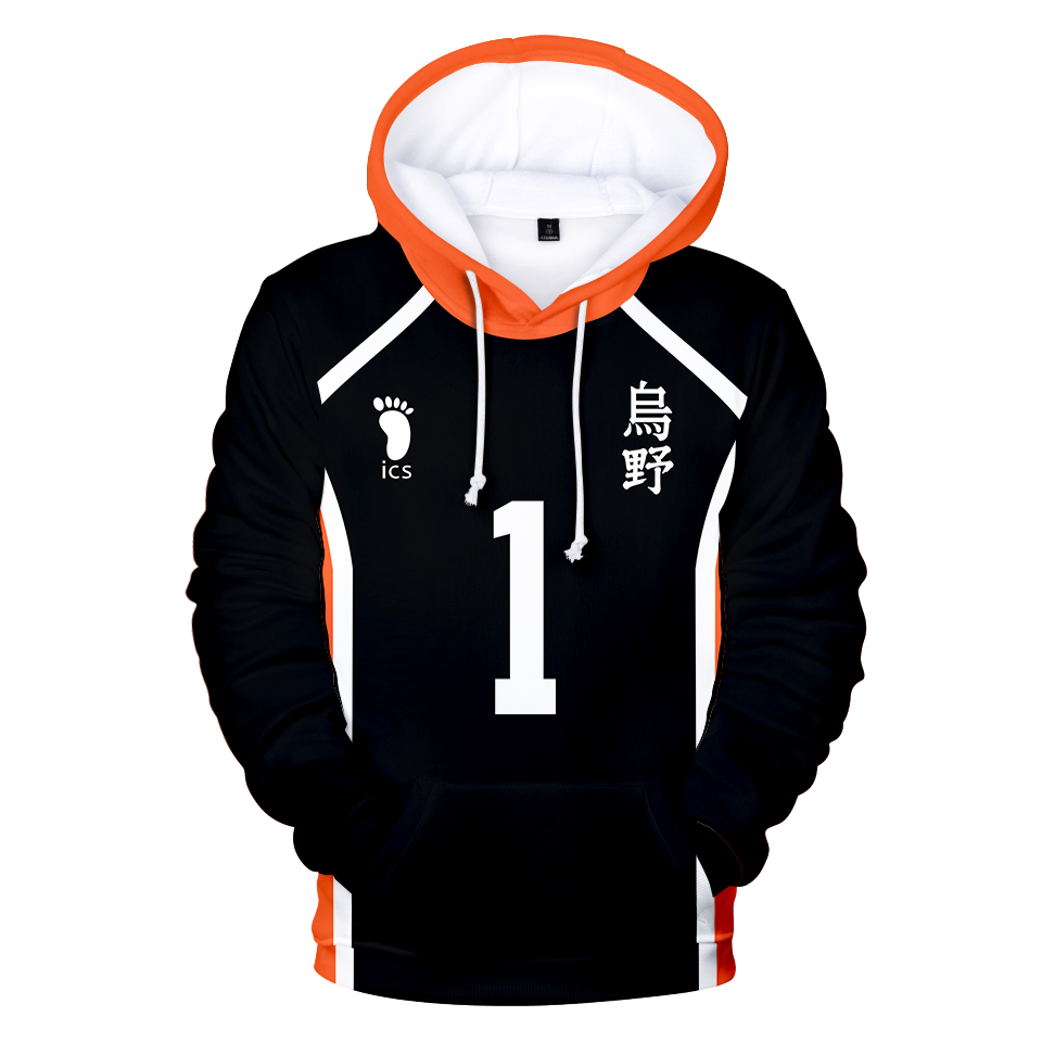 Young Manga Harajuku Hooded Sweatshirt 2020 Haikyuu!! Cool Fashion 3D Casual Adult Kids Pullovers Casual Hoodies Sweatshirts