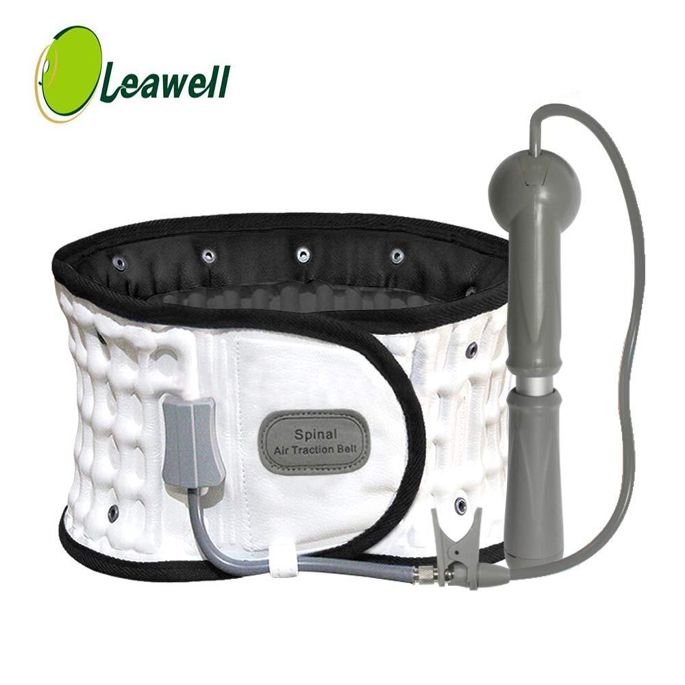 Decompression Back Belt with FDA Approved, White-Leawell Back Decompression Belt QY02(Waitst 29-49'')