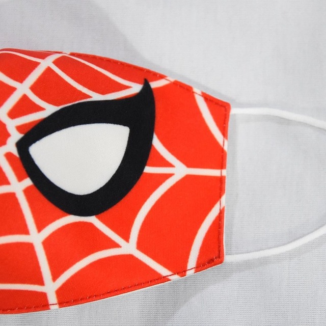 2020 Spiderman Stop Air Pollution Home Cartoon Lovely Cotton Masks Keep Warm Mouth Respirator Kids Adult 3
