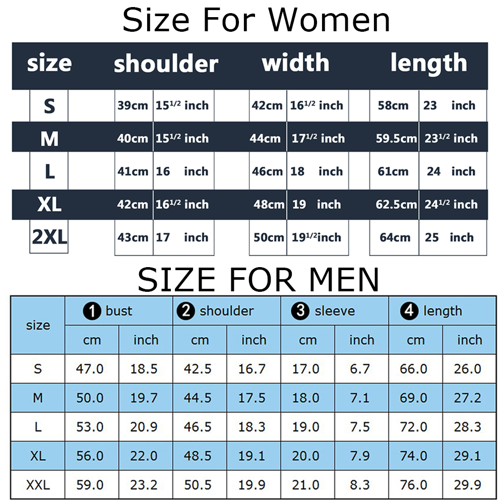 新-男女装尺码