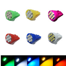 Lâmpada para estacionamento com 100 peças, led w5w t10 194 168 w5w 3020 8smd, automática, cunha lateral, lâmpada clara lâmpadas de luz branca da licença