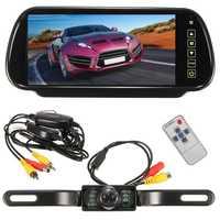 Monitor de espejo LCD TFT para coche, 7 pulgadas, MP5, espejo retrovisor, cámara de estacionamiento