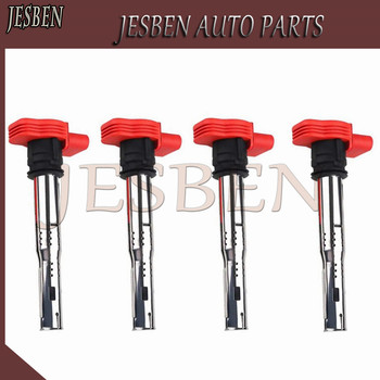 4PCS/LOT Ignition Coil For VW Jetta Golf GTI GLI Passat Tiguan CC Touareg A3 A4 A5 A6 A7 A8 TT Q3 Q5 R8 06E905115E 07K905715F